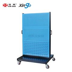 信高 移动型双面物料整理架(4方孔2百叶);KM-2342