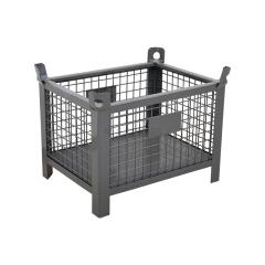 精瑞达 金属周转箱网箱,800*600*660,承重600公斤,黑色;J-3B