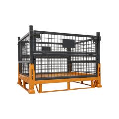 精瑞达 金属周转箱网箱,1200*1000*770,承重1000公斤,可折叠,黑色;K-3A