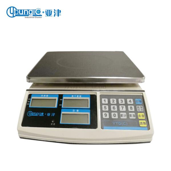 亚津 电子计重桌秤,量程:3kg;YTD(C)-3