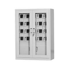【可定制】迪团 20门可充电手机柜 带外门玻璃,规格:1136*814*300mm,小门165*145mm,挡门300*360mm;DT-CFG18