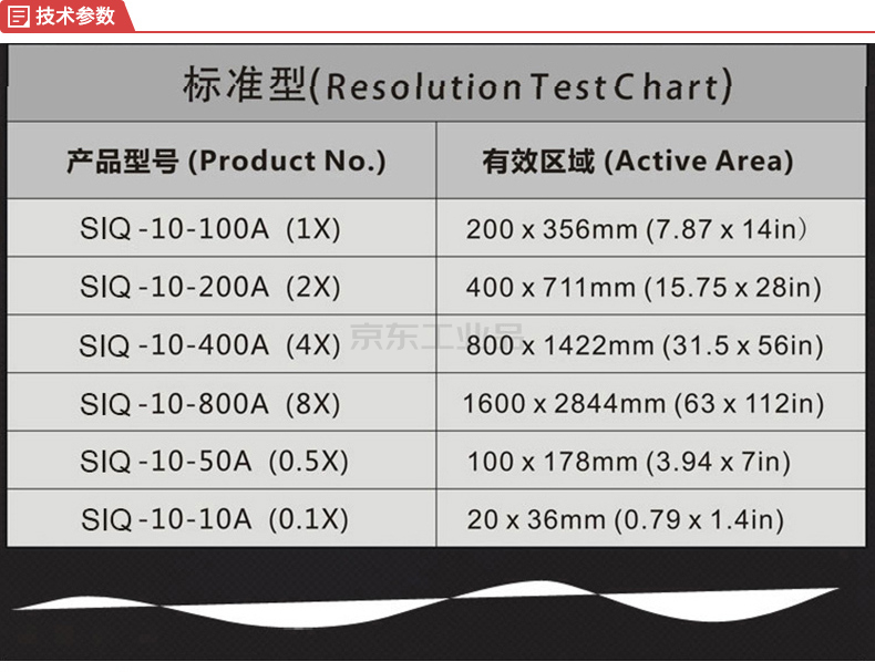三恩时 ISO12233分辨率chart图,图像:356*200mm,图卡:401*256mm;NQ-10-100A